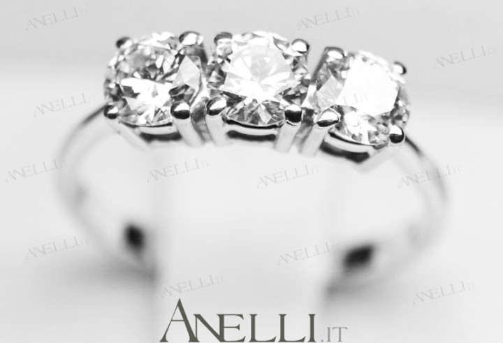Anello Trilogy 1 Carato E-IF