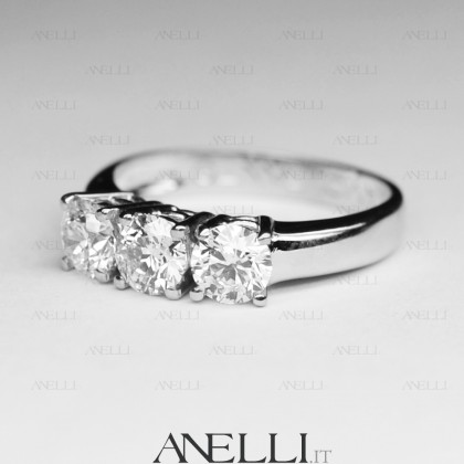 Anello Trilogy 0.90 Ct colore D purezza IF