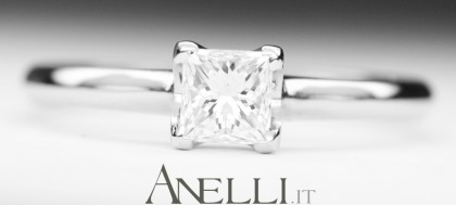 Anello con Diamante Princess di 0,40 carati F-VVS1