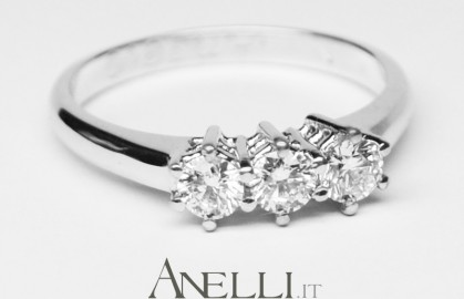 Anello Trilogy di Diamanti 0,60 ct E-IF