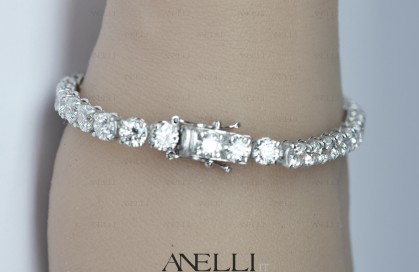 Bracciale Tennis 10 Carati Diamanti E-VS1
