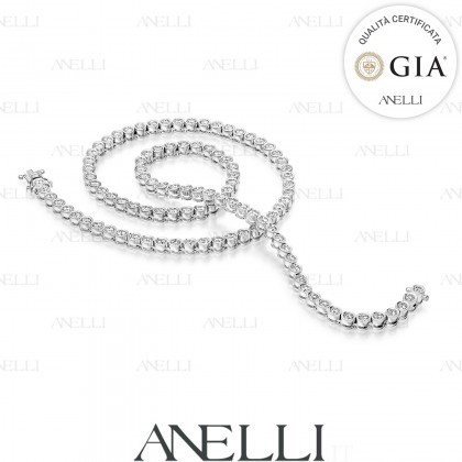 Collier Diamanti 24 carati Diamanti GIA F-VS1