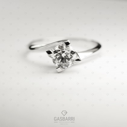 Solitario Diamante 0.50 carati D-IF Triplo Excellent